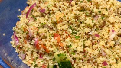 Tabulé de Bulgur con verduras frescas y Hierbabuena